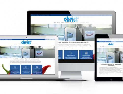 Christ Küchentechnik GmbH mit neuer Webseite