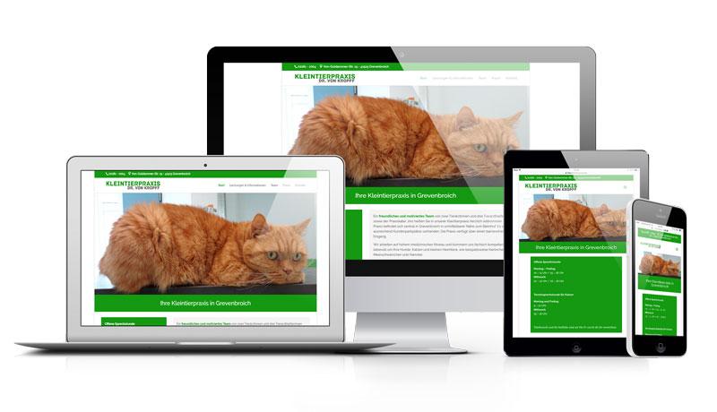 Tierarzt - Grevenbroich - Dr. Kropff - Webseite - Homepage