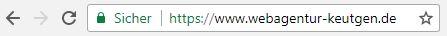 HTTPS - Sichere Webseite - Webagentur Keutgen