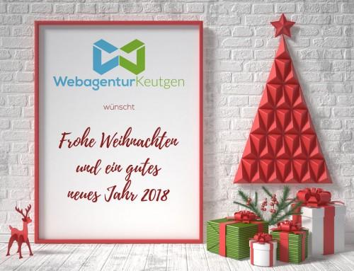 Frohe Weihnachten und ein gutes neues Jahr 2018!