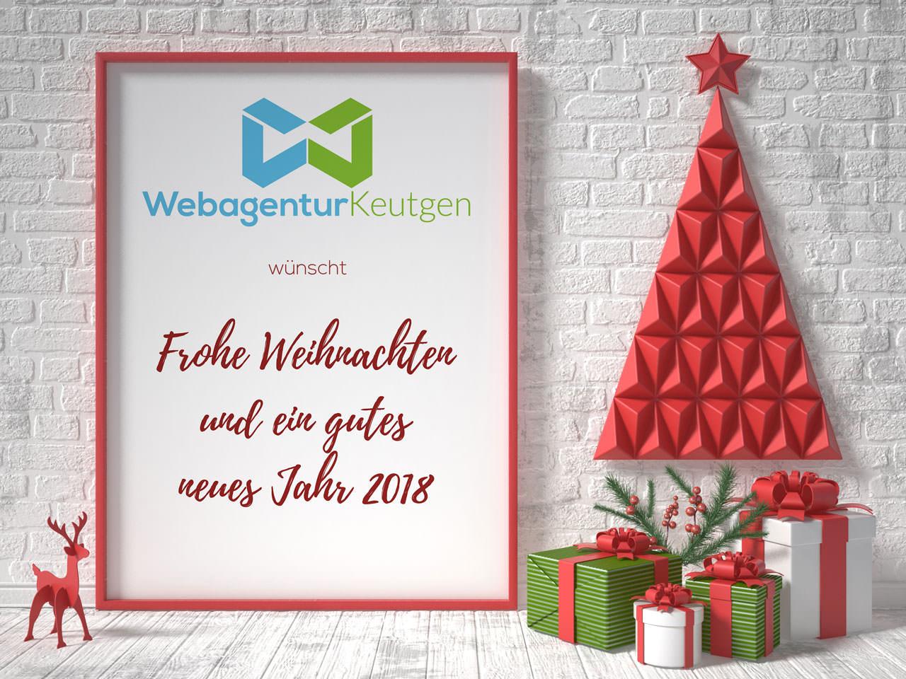 Frohe Weihnachten und ein gutes neues Jahr 2018! | Webagentur Keutgen