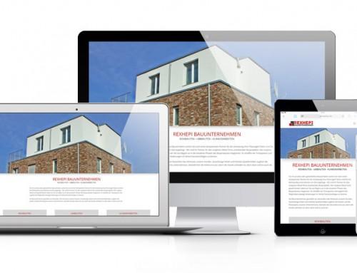 Webseite, Logo und Geschäftsausstattung für Rexhepi Bauunternehmen