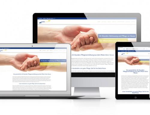 Neue Webseite für CURA GOLD, die 24-Stunden-Pflegevermittlung aus Grevenbroich