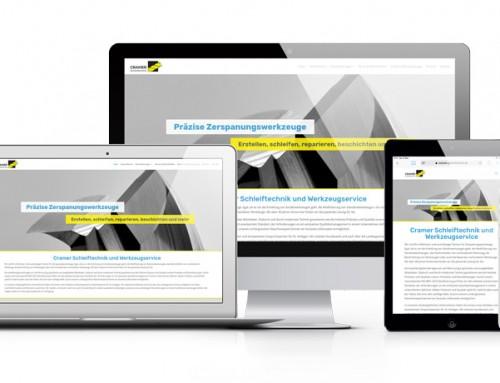Cramer Schleiftechnik in Mönchengladbach mit neuer Webseite