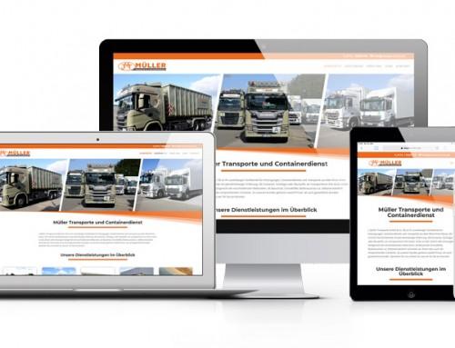 Relaunch der Webseite für J. Müller Transporte und Containerdienste