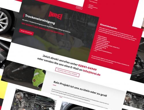 Trockeneisreinigung & Sandstrahlen – zwei Landingpages für INREI Industriereinigung und Service GmbH