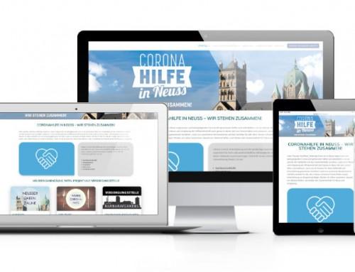 Webseite für Coronahilfe in Neuss – Wir stehen zusammen!