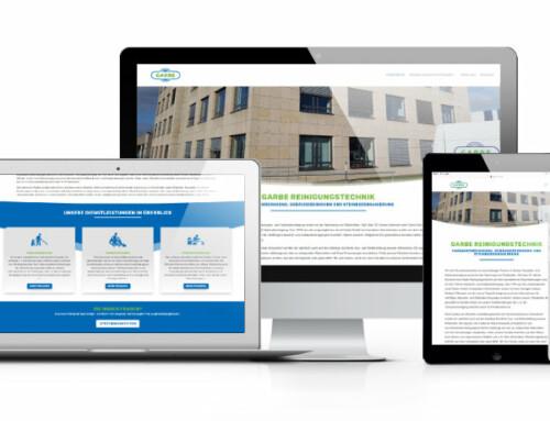 Neue Webseite für Garbe Reinigungstechnik e.K.