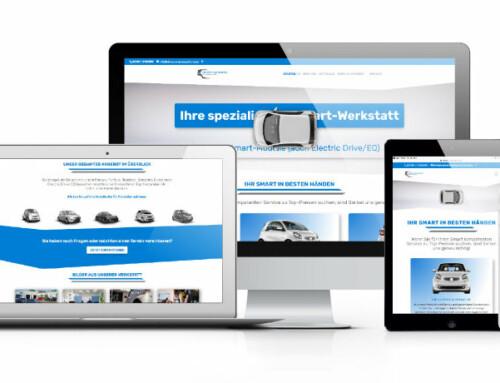 Umfangreicher Relaunch der Webseite von cleverer und smarter Autoservice GmbH