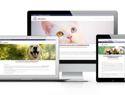 Die erste Webseite für die Kleintierpraxis am Gillbach