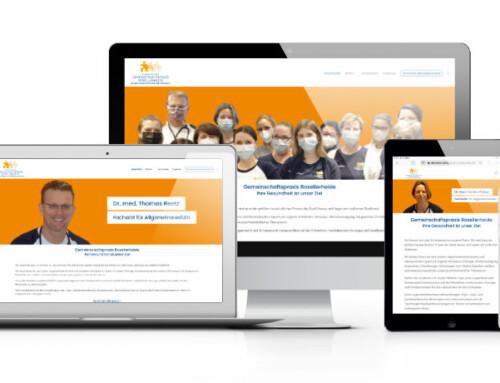 Eine neue Webseite für die Gemeinschaftspraxis Rosellerheide in Neuss