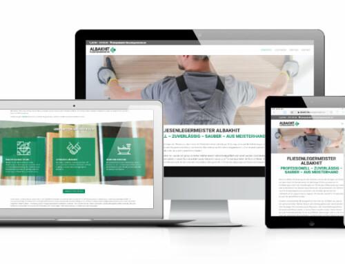 Neue Webseite für Albakhit Fliesenlegermeister aus Grevenbroich