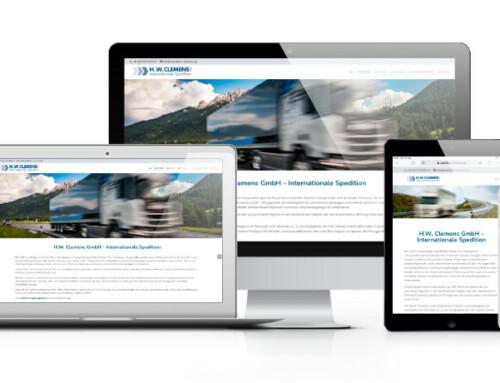 Neue Webseite für H.W. Clemens GmbH – Internationale Spedition aus Rommerskirchen